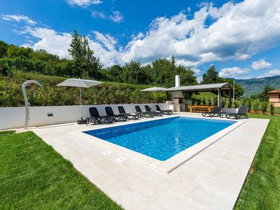 Photo for Holiday house with swimming pool at the end of the slopes of mount Ucka