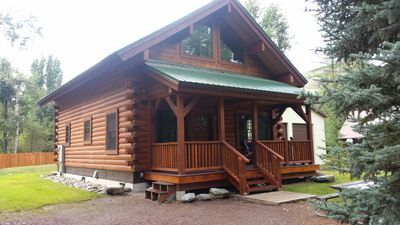 Photo for NEW!  HIKERS PARADISE--Beautiful new log cabin 5 min from West Glacier entrance