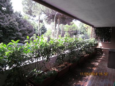 Photo for modern apartment with a beautiful terrace, ideal for couples and families