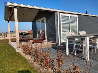 Photo for New luxury chalet on charming park in sunny Zonnemaire, Zeeland