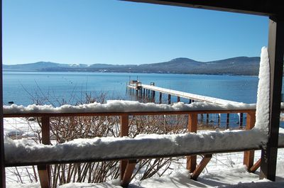 View from Master Bedroom. Direct access to lower deck. Private Pier