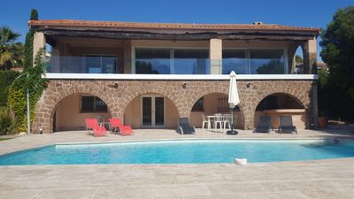 Photo for Near St Tropez Villa Les Arcades 6 people sea view with heated pool
