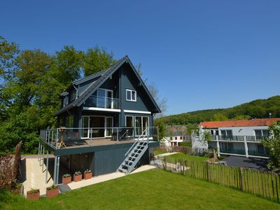 Photo for Beautiful wooden house with amazing views over the South Limburg hills