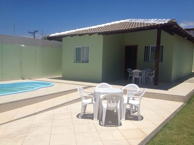 Photo for House 03 bedrooms, 03 bathrooms, pool, barbecue and grass area