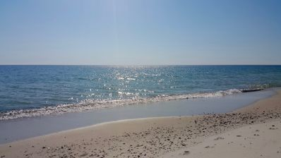 Just a short walk to the White Sandy Beach...