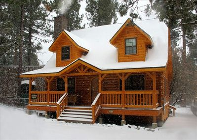 'The Holiday Cabin In Winter'