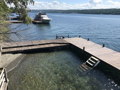 Photo for Hector Hideaway on Seneca Lake - stunning setting at water's edge.
