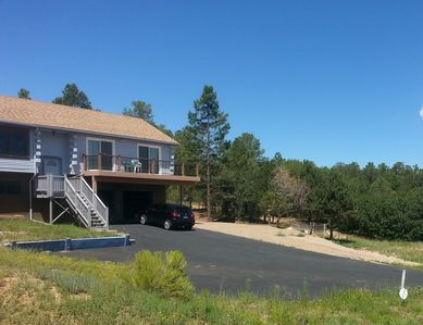 Photo for Tijeras Tranquility, Mountain Cabin, Spectacular Views