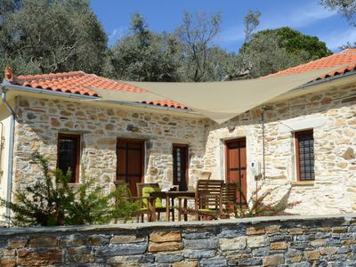 Photo for Kalivi Elena, a traditional, restored stone house in Platanias, Pelion.