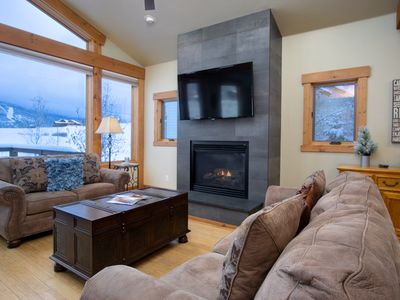 Photo for Longview Chalet, 4BD, Beautiful Home Backing to Open Space, Amazing Ski Area Views, Hot Tub