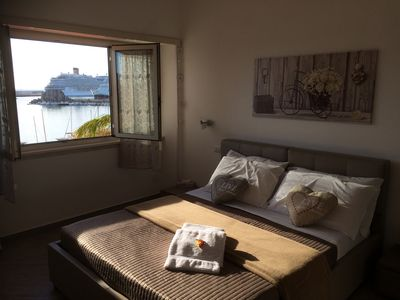 Photo for delightful apartment facing the port - 4 beds
