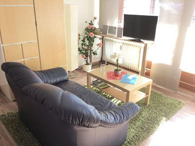 Photo for 1Z. FeWo 2 Pers. Bad-Kochn. S-pool balcony in the house, sauna + Fitnessr. 35, - € Tg.