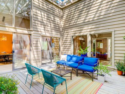 Photo for Modern home w/ a charming back patio! Golf available on-site & dogs welcome!