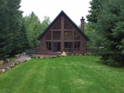 Photo for Lake home on beautiful private lake, 15 miles from downtown Hayward, WI