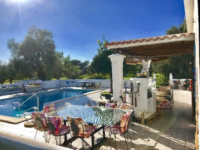 Photo for cheerful house Stunning rustic villa with pool  in a fabulous location in ibiza