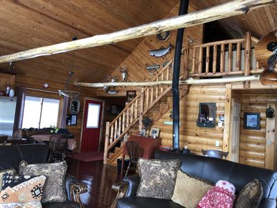 Photo for Romantic.Private log home with amazing views