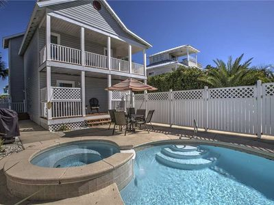 Photo for At Ease - Crystal Beach! Fully Updated! Heated Private Pool! Steps to the Beach!