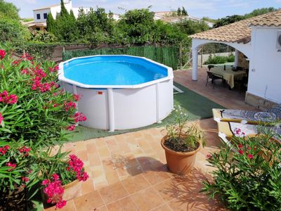 Photo for 2 bedroom Villa, sleeps 5 in Cala Romantica with Pool, Air Con and WiFi