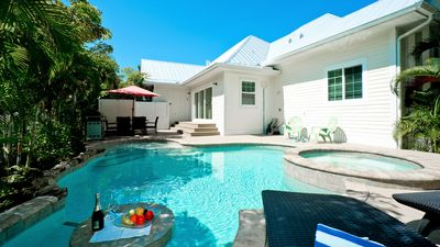 Photo for It's my Dream - private heated pool, 2 minute walk to the beach! Pet friendly
