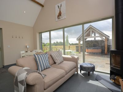 Floor to ceiling windows allowing lots of light in