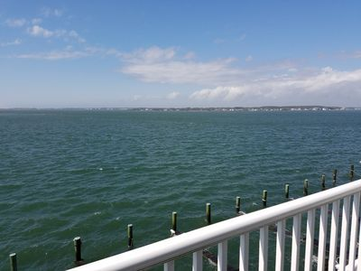 Photo for Affordable, Clean, Bay View Condo with Boat Slip, Walk To The Beach, WiFi