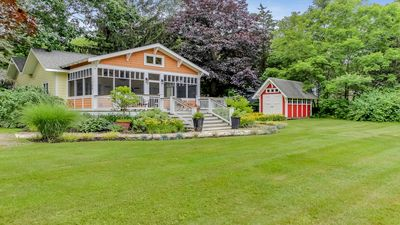 Photo for Dog-Friendly In Town Cottage w/ Screened Porch