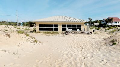 """Photo for Ready Now- No Storm Issues! Great Beachfront Ground-Level, Bring the dogs! Gulf Beaches, Wi-Fi, 3BR/2BA """"Dunes N' Dolphins"""""""