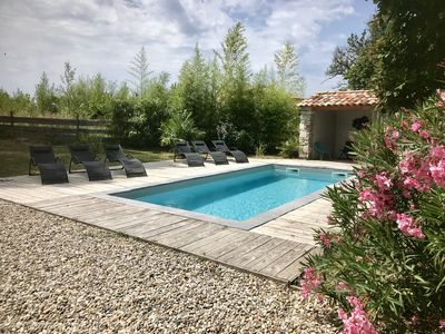 Photo for Old barn in typical Ardèche hamlet with private pool!