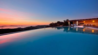 Photo for JOURNEY AT ITS LUXURIOUS BEST. Villa Sunset, St. Lazaros, Mykonos 6br upto 13guests Private