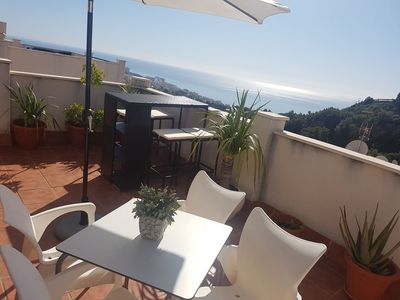 Photo for COZY FLAT, LARGE TERRACE, SEA VIEWS, GOLF