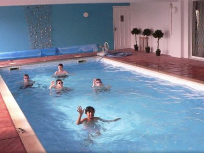 Photo for A superb Lodge with own private heated Indoor Swimming Pool close to Stratford