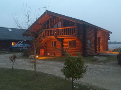 Photo for Log cabin, Lakeside Position, Family and Pet Friendly