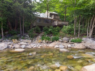 Photo for Right on the River in Loon Mountain Resort! Gorgeous Views! Walk to Chair Lift!