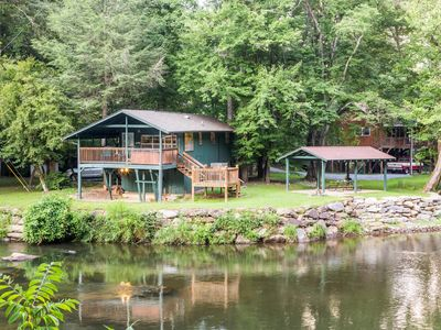 Photo for Cottage on the Tuckasegee River w/ hot tub, firepit & covered picnic area