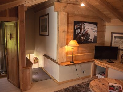 Photo for IN AUTHENTIC CHALET FACE MONT-BLANC DUPLEX 50 M2 4 PERS