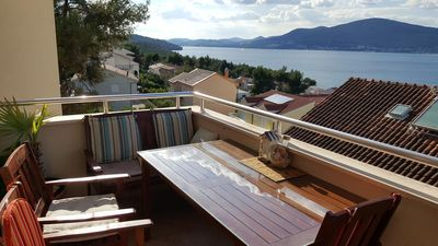 Photo for One bedroom apartment with balcony and sea view Okrug Gornji (Čiovo)