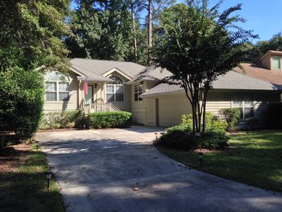 Photo for Private 3 Bedroom Home In Sea Pines - Short walk to Supermarket, Dining, Movies