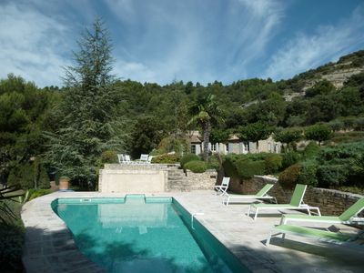 Photo for Romantic and luxurious stone house in Saumane, Luberon, Monts de Vaucluse
