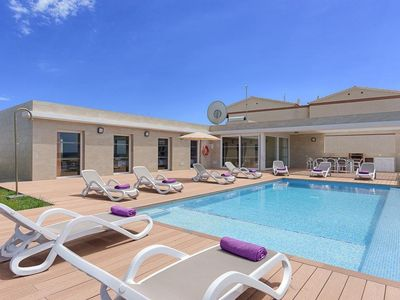 Photo for 4 bedroom Villa, sleeps 9 in Cala'N Blanes with Pool, Air Con and WiFi