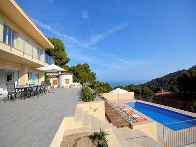 Photo for Villa 10p. in Begur Costa Brava with fantastic sea view, private pool