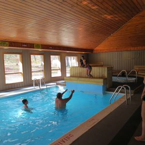 Our indoor pool and hot tub are fantastic fun on a cold winter day!