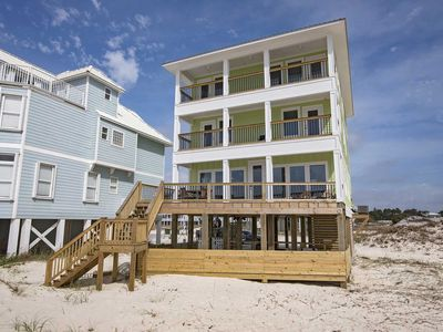 Photo for Gulf Front  7 Bedroom ~ Private Pool ~ Sleeps 22 ~ Above the Dunes Beach House