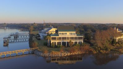 Photo for Luxury Waterfront Rental with Deep-Water Dock on corner of ICW and Jeremy Creek