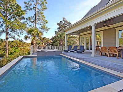 Photo for Gorgeous home with a private pool and hot tub! Perfect Location for beach vacation!