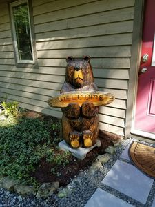 Fred the Bear Welcomes you!