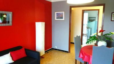 Photo for Ajaccio 70 m² spacious, trendy, fully equipped, parking, WIFI