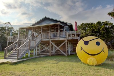 Smiley Face House with front covered deck