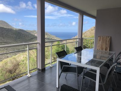 Photo for Apartment Villa Sea View - Pool - Quiet 2 minutes from the beaches
