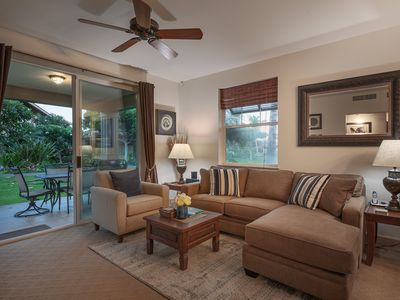 Photo for Beautiful 3 bdrm sleeps 6, near to tennis and basketball courts, short drive to beach!