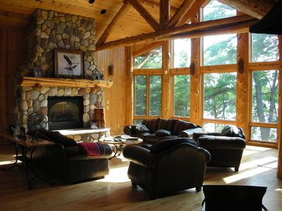 Large cabin main fireplace